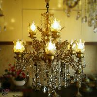 خرید عمده لوستر شاه عباسی دو طبقه 9 شاخه