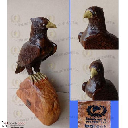 خرید مجسمه چوبی عقاب عمده