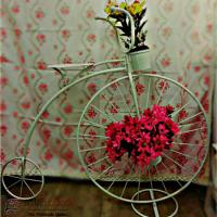 خرید عمده پایه گلدان فلزی طرح دوچرخه