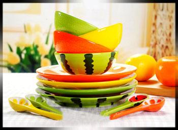 فروش عمده انواع ظروف طرح میوه ای