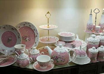 فروش عمده انواع سرویس ظروف طرح آنجل