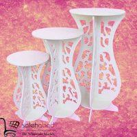 فروش عمده پایه گلدان دکوری ۳ تایی