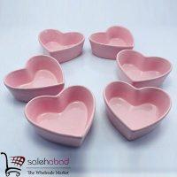 فروش عمده ست پیاله سرامیکی طرح قلب