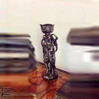 فروش عمده مجسمه شمعدان طرح دو خواهر