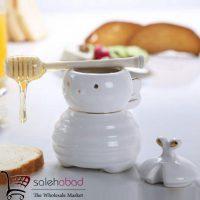 فروش عمده ظرف عسل خوری طرح زنبور
