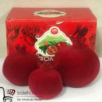 فروش عمده انار دکوری مخملی قرمز
