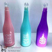 فروش عمده بطری یک لیتری رنگی مایعات
