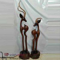 فروش عمده مجسمه چوبی آهو دکوری