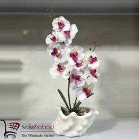 فروش عمده گلدان ارکیده صدفی سرامیکی