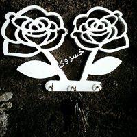 فروش عمده جا کلیدی PVC طرح گل رز