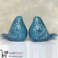 فروش عمده مجسمه کوچک پرنده فیروزه ای