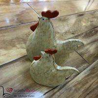 فروش عمده مجسمه خروس ۲ تایی دکوری