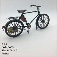 فروش عمده مجسمه فلزی دوچرخه کلاسیک