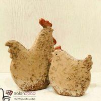 فروش عمده مجسمه مرغ و خروس سرامیکی