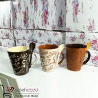 فروش عمده ماگ قاشق دار طرح Coffee