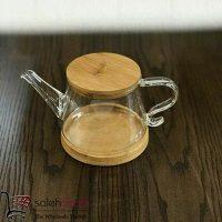 فروش عمده قوری شیشه ای طرح بامبو