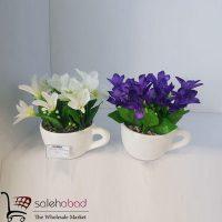 فروش عمده گلدان سرامیکی طرح فنجان