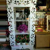 فروش عمده ویترین سه طبقه PVC طرح گل و بوته