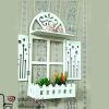 فروش عمده شلف دیواری PVC طرح پنجره