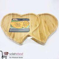 فروش عمده اردوخوری چوبی قلب دوقلو