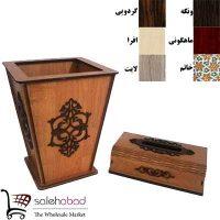 فروش عمده سطل زباله و جادستمال چوبی