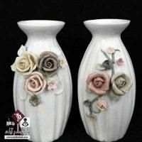 فروش عمده گلدان نقش برجسته سرامیکی