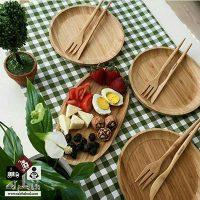 فروش عمده بشقاب غذا خوری چوبی بامبو