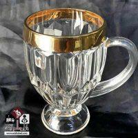 فروش عمده فنجان کریستالی دور طلایی