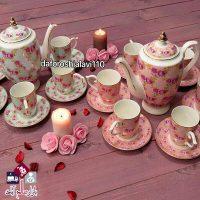 فروش عمده سرویس چای خوری سرامیکی گلدار