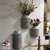 فروش عمده گلدان دیواری دکوری رزین