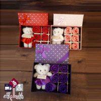 فروش عمده جعبه کادویی گل و خرس ویژه ولنتاین