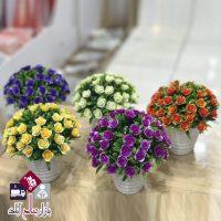 فروش عمده گلدان های دکوری کوچک گل رنگی