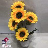 فروش عمده گلدان گل آفتابگردان مصنوعی