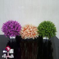 فروش عمده گلدان شمشاد مصنوعی رنگی