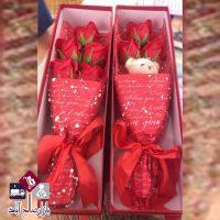 فروش عمده جعبه کادویی ولنتاین گل و خرس