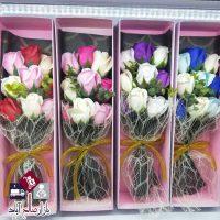 فروش عمده جعبه کادویی با دسته گل رز ویژه ولنتاین