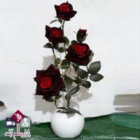 فروش عمده گلدان رز مخمل ۳ رنگ بزرگ