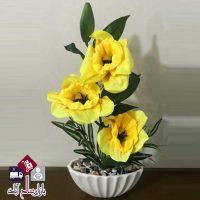 فروش عمده گلدان طرح شقایق گل مگنولیا
