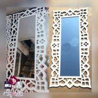 فروش عمده آینه قدی سفید طرح لوزی PVC