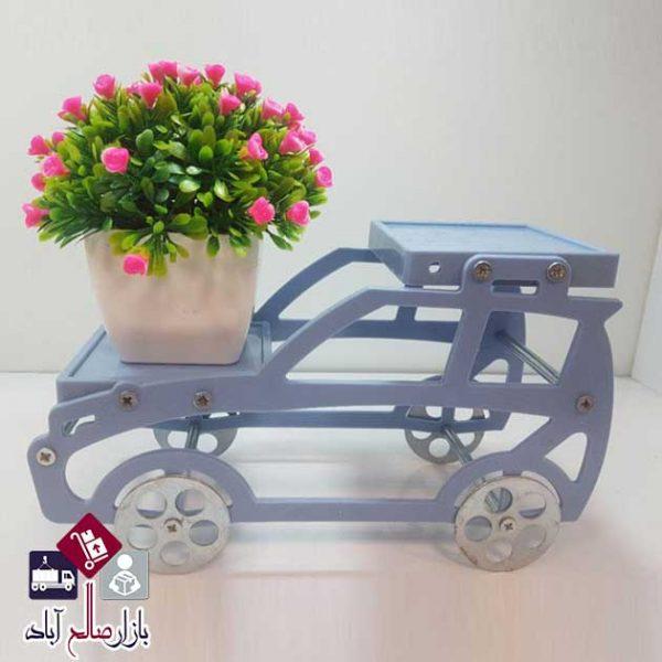 لیوان چای خوری جدید فروش عمده پایه گلدان فلزی طرح ماشین