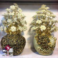فروش عمده گلدان لوکس دکوری طرح برجسته