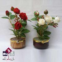 فروش عمده گلدان جدید با گل رز مصنوعی