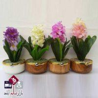 فروش عمده گلدان جدید با گل سنبل مصنوعی