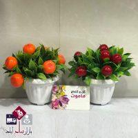 فروش عمده گلدان گل مصنوعی طرح بوته میوه