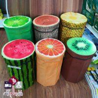 فروش عمده باکس و صندلی بامبو طرح میوه