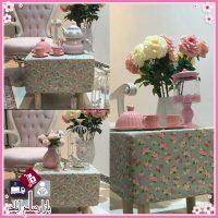 فروش عمده صندلی چهارپایه دکوری گلدار