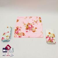 فروش عمده دستمال سه تایی گلدار
