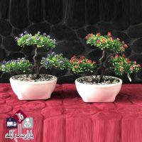 فروش عمده گلدان بن سای گلدار سه کوپه