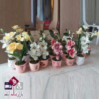 فروش عمده گلدان سرامیکی صورتی رنگ