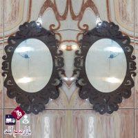 فروش عمده آینه دیواری بیضی دکوری